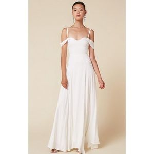 Reformation Poppy Dress in Ivory - 8. Wedding